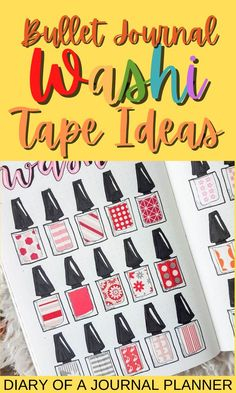 The 40 best uses for washi tape in your bullet journal, from covering mistakes to washi tape spread ideas! #washitape #Bulletjournalspreads #bulletjournalhacks #bulletjournalideas #washitapeideas Bullet Journal Washi Tape, Bullet Journal Hacks, Bullet Journal Printables, Bullet Journal How To Start A, Bullet Journal Spread, Washi Tape Wall, Washi Tape Storage, Washi Tape Crafts, Creative Journal