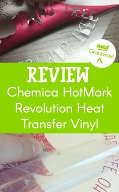 Review: Chemica Hotmark Revolution Vinyl heat transfer material for Silhouette Cameo or Portrait and Cricut Explore or Maker - http://cuttingforbusiness.com/2017/12/07/review-chemica-hotmark-revolution-vinyl/
