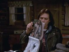 """Ed has read the phone books: """"Oh, I read 'um once, they're pretty good!"""" From """"Things Become Extinct"""" Northern Exposure, Phone Books, Different Exercises, Extinct, Pretty Good, Season 3, Favorite Tv Shows, Alaska, Native American"""