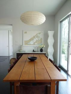 plank wod table noguchi lamps summer house