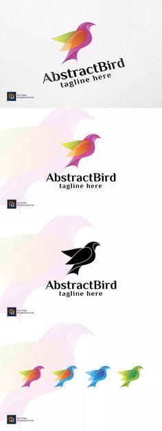Abstract Bird - Logo Template AI, EPS   #unlimiteddownloads