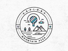 Ain't No Mountain High Enough // Badge Design The next installment in the E-X-P-L-O-R-E series.  View the project development here  Follow STUDIOJQ:  Behance | Twitter | Pinterest