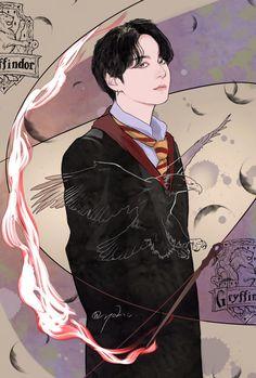 Bts Selca, Kookie Bts, Jungkook Fanart, Kpop Fanart, Bts Bangtan Boy, Slytherin, Hogwarts, Bts Anime, V Bts Wallpaper