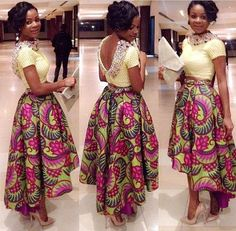 African Circle Skirt  African Maxi Skirt  by DiagossaCouture