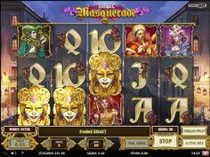 S pětiválcovým video automatem Royal Masquerade, na kterém můžete aktivovat až 10 výherních linií se ocitnete v Benátkách na maškarním bále.  http://www.hraci-automaty.com/hry/vyherni-automat-royal-masquerade #royalmasquerade #hraciautomaty #hry
