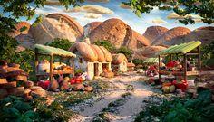 Surreal Landscapes Made from Food:  Bread Village ...carl warner