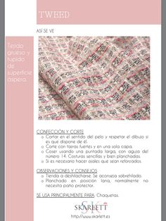 El dossier de las telas Skarlett Sewing Hacks, Sewing Projects, Fashion Terms, Sewing School, Fashion Dictionary, Textile Texture, How To Dye Fabric, Fashion Fabric, Fashion Sketches