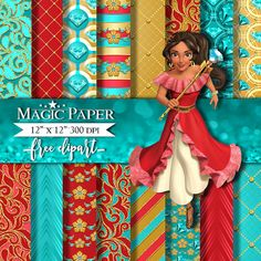 50% OFF SALE Princess Elena of Avalor Digital by MagicPaperStore