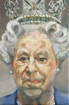 HM Queen Elizabeth II Lucian Freud 2000–2001 Oil on canvas 23.5 x 15.2 cm