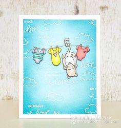 Possum Baby card by Samantha Mann for Newton's Nook Designs | Hanging Around Stamp Set