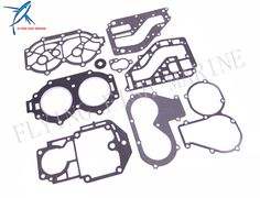 Outboard Engine Complete Power Head Seal Gasket Kit for Yamaha 25HP 30HP Boat Motor Free Shipping #Affiliate