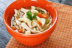 Leftover Turkey Noodle Soup - My favorite way to use up leftover turkey is to make a delicious pot of turkey soup.