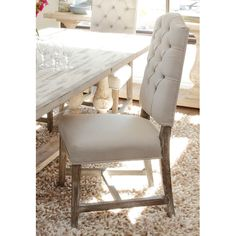 Found it at Joss & Main - Ericka Tufted Side Chair in Camel