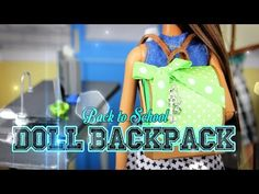 How to Make a Doll Backpack - Doll Crafts - YouTube