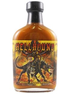 Hellhound Ghost Pepper Sauce is unlike any other jolokia hot sauce on the market. Made with red wine vinegar, mustard, a dash of sugar & savory spices, it actually TASTES good while burning with the intense heat of ghost peppers & habaneros. Delicious on burgers, hot dogs, brats & other sausages, BBQ chicken, and in recipes for homemade BBQ sauce, chili, stews etc. Buy on sale for $9.85 here: http://www.carolinasauces.com/Hellhound_Ghost_Pepper_Sauce_p/1867h.htm