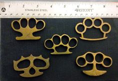 Real Brass knuckle knuckle duster vintage style. by PureB on Etsy, $25.00