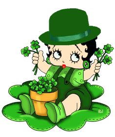 BABY BOOP,    WISHING YOU THE LUCK OF THE IRISH, THIS ST. PATTY'S DAY....