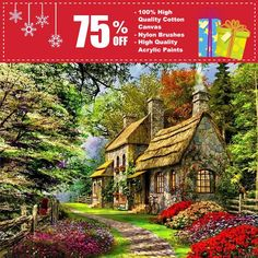 "Retail:  $74.95 Today: $18.95 This item from MAX NOVELTY comes with FREE Shipping Worldwide! Do you love DIYing / Painting? Then this ""DIY Painting By Numbers - Cabin in the woods"" is a MUST have. Great way to decorate your room and to release stress. Also makes a wonderful gift! Features: Size: 16""x20"" / 40x50cm Frameless/Framed (2 options to choose) Ideal Home Decoration For Living Room Include: 100% high quality cotton canvas; Nylon brushes; High..."