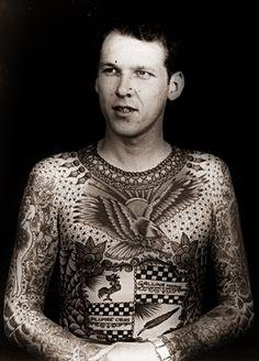 Lyle Tuttle tattooed by Bert Grimm