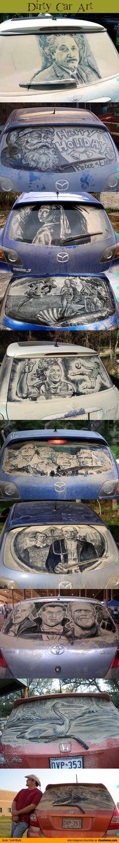 Arte en coches sucios  Artista: Scott Wade