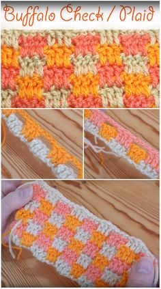 Buffalo Check / Plaid Stitch – Guided video tutorial how to crochet this beautiful crochet stitch. I love this high-quality video series.