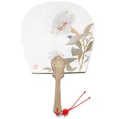 fan020a Shop Fans, Hand Held Fan, White Lilies, National Museum, Wooden Handles, Korea, Asia, Arts And Crafts, Lily