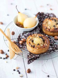 Tartelettes Poire, Noisettes et Pépites de Chocolat