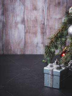 Christmas tree with baubles by Life Morning Photography on @creativemarket