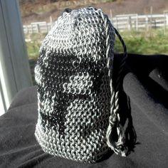 Andrejus - #Black #Mana Deck Bag. $80.00, via #Etsy.  #handmade #chainmaille #mtg #ccg #magicthegathering