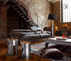 Steel Stool; like so much the staircase