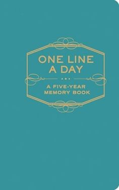 Seen on SilverInTheCity.com: One Line a Day: A Five Year Memory Book