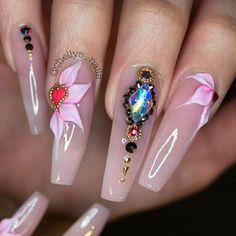 3d flowers, hearts and stonework!  #nails #nailsinorlando #nailsinkissimmee #nailpro #nailart #encapsulated #dopenails #dopenailtech #pronails #notpolish #nailporn #nailprodigy #exoticnails #nailjunkies #nailartaddict #glitternails #cutenails #greatnails #nailsofinstagram #3dflowernails
