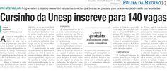 Cursinho da Unesp inscreve para 140 vagas