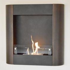 Nu-Flame Focolare Muro Noce Wall Mounted Ethanol Fireplace #greenpower