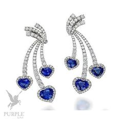 Feel the beauty with this earrings set with diamonds and Sri Lankan sapphires by @picchioti #purplebyanki #diamonds #luxury #loveit #jewelry #jewelrygram #jewelrydesigner #love #jewelrydesign #finejewelry #luxurylifestyle #instagood #follow #instadaily #lovely #me #beautiful #loveofmylife #dubai #dubaifashion #dubailife #mydubai #Earrings #SriLankan #Sapphires #Blue