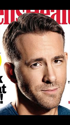 Medium Length Side Parting from 'Mens Health Cover' Hairstyles For Round Faces, Boy Hairstyles, Ryan Reynolds Deadpool, Side Parting, Hair Cuts, Stylists, Long Hair Styles, Celebrities, Health