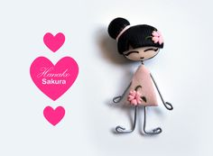 Hanako. Broche Sakura