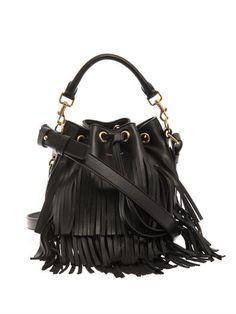 Saint Laurent Fringe leather bucket bag
