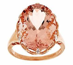Bold in size yet delicate in color, this morganite and diamond ring is a beautiful way to accessorize your dressed up and dressed down looks!