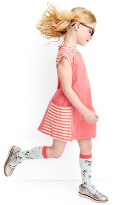 Girls comfy bright dresses - perfect for back to school! at @hanna