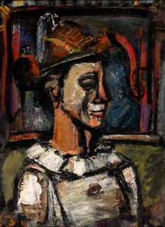 * Georges Rouault (French, 1871 - 1958) The Clown's Profil, 1938-1939