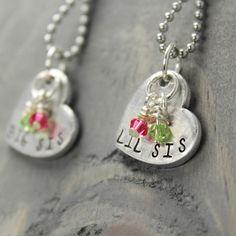 Big Sis Lil Sis Necklace Set