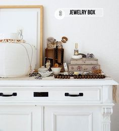dressing table organization | We Heart Home