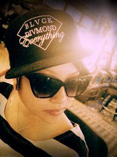 My girl Velasco rocking the Blackscale x Diamond Supply Co all black everything SnapBack super steezy Stussy, Bape, Men Street, Street Wear, Fat Nick, Denzel Curry, Hood By Air, Crooks And Castles, Glam Doll