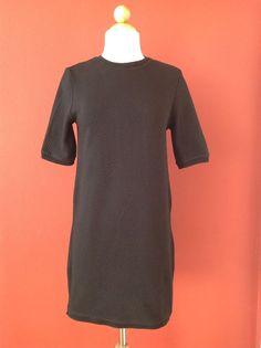 ZARA TRAFALUC Black Stretch Sweater Dress Size S #ZARA #SweaterDress