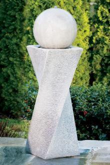 Makers of Fine Stone Garden Accents Concrete Fountains, Stone Fountains, Garden Fountains, Water Fountains, Modern Water Feature, Outdoor Water Features, Pillar Design, Backyard Buildings, Contemporary Landscape