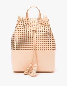 Loeffler Randall Drawstring Backpack in Natural on ShopStyle