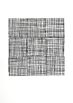 Buy Grid No1, a Acrylic on Paper by Eloise Renouf from United Kingdom. It portrays: Abstract, relevant to: blocks, square, texture, geometric, grid, lines, minimal, monochrome, nine Grid No1 is a study of lines, pattern and texture, and was based on a small ink drawing of a similar theme.   The image is painted on heavyweight 140lb cold pressed watercolour paper.  Signed, titled and dated on the reverse.