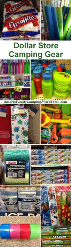 Dollar stores are great places to buy camping gear. They're cheap and disposable. No one will get upset if the stuff breaks or gets forgotten at the last campsite you visited. In the spring t…