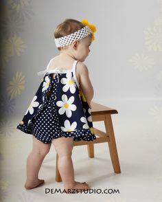 Baby Dress Sewing Pattern  Ruffled Baby Dress  by tiedyediva, $8.00